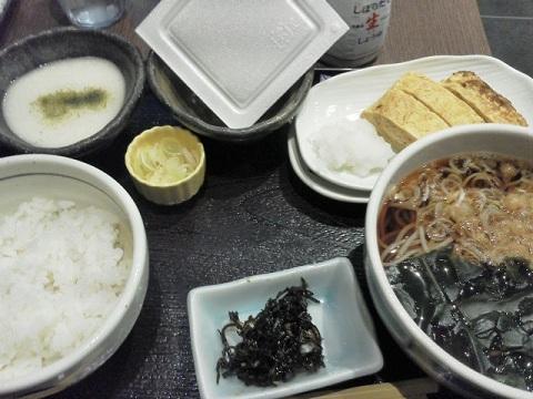 弁天庵の一番高い朝の定食