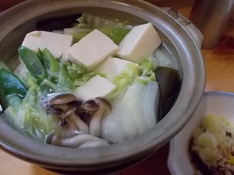 小鍋仕立ての湯豆腐
