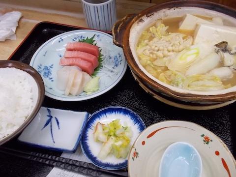 牡蠣鍋・刺身定食