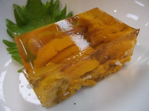 金田のウニの煮凍り