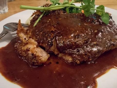 豚ロースのペッパーステーキ@つばめグリル