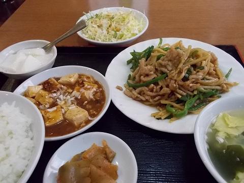 定食:青椒肉絲