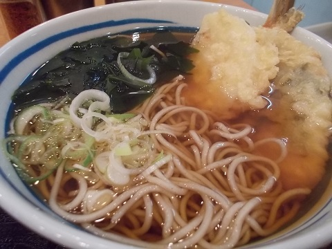 しぶそばの筍と鯵の天ぷらそば