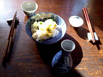 日本酒と漬物