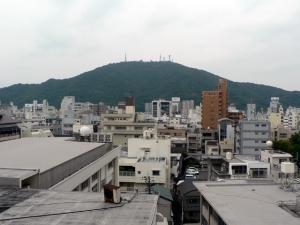 千秋閣7階から見た眉山^^