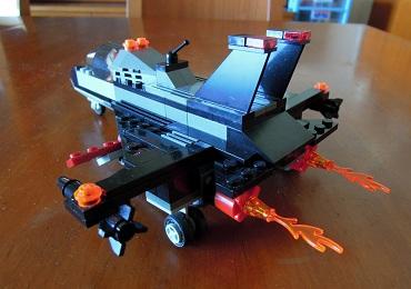 LEGO戦闘機_アフターバーナー