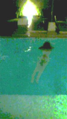 平野綾のプールでの画像