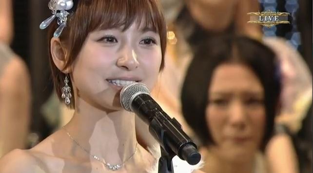卒業する篠田麻里子