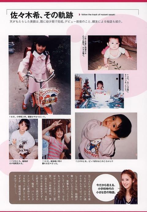 幼い佐々木希の画像