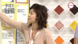 有働由美子の脇汗画像3