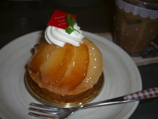 桃のタルト