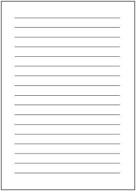 無料 無料レター用紙 : 便箋・原稿用紙 - エクセルの ...