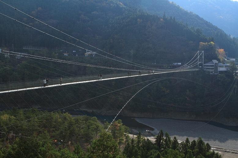 谷瀬のつり橋、1
