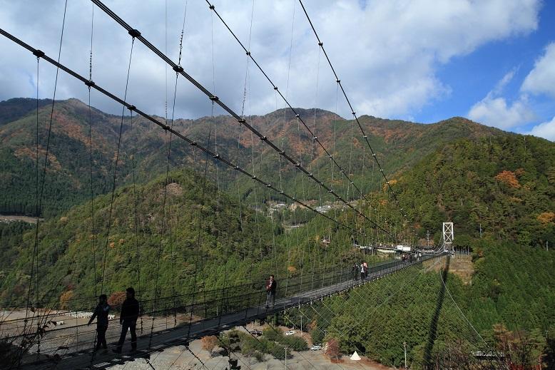谷瀬のつり橋、2