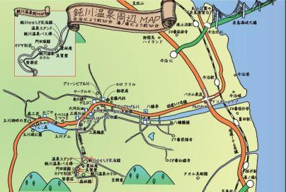 鈍川温泉MAP