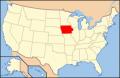 アイオワ州位置