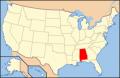アラバマ州位置