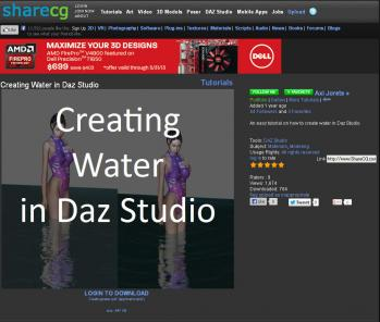 Creating Water In Daz Studio01