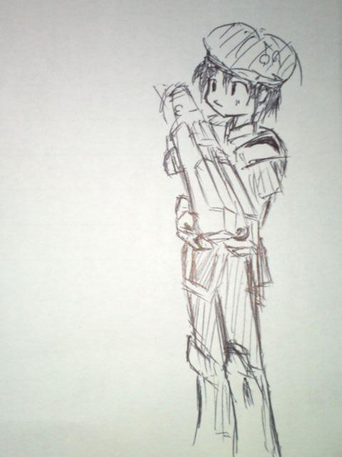 ボールペン一発描き