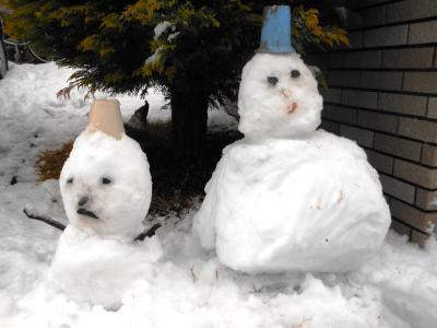 2013 01 14 雪だるま