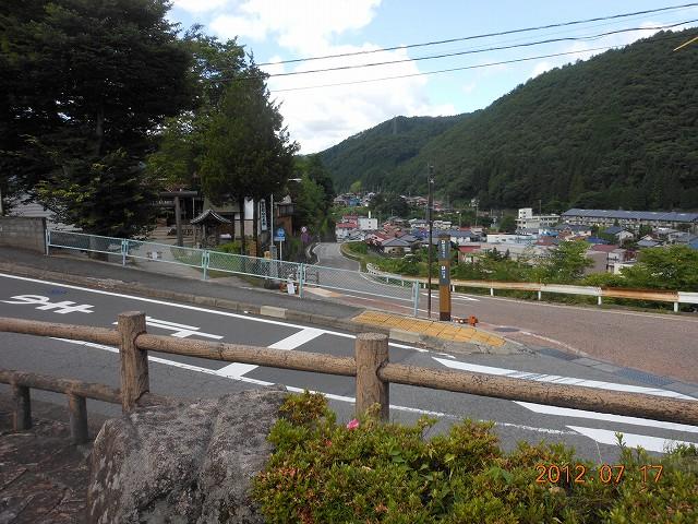 駅前から見下ろした木曽福島