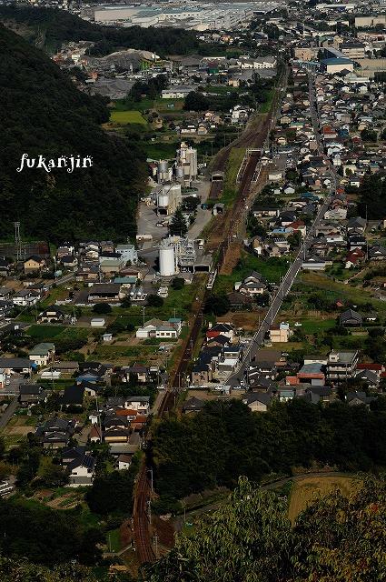高山本線坂祝町猿啄城跡俯瞰 (2)のコピー