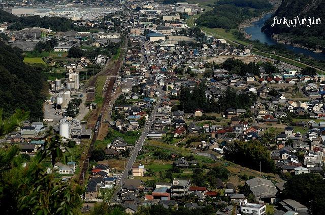 高山本線坂祝町猿啄城跡俯瞰 (1)のコピー