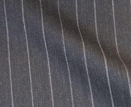 葛利毛織スーパー120のグレー縞
