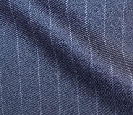 葛利毛織のオーダースーツ生地Super120ストライプ紺