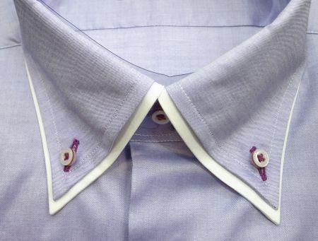 二枚襟のオーダーシャツ