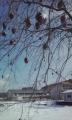 柿の木と小国小学校