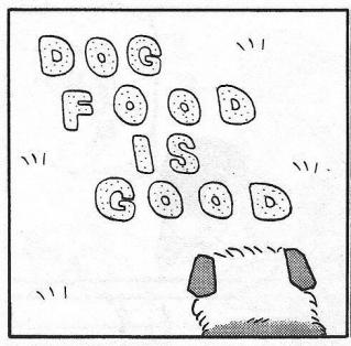 DOG FOOD IS GOOD