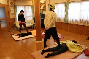 第一回楽健法教室@花の駅1