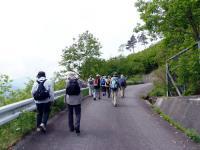 柳沢尾根公園への登り坂