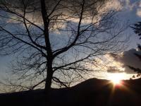日の沈む夕暮れ