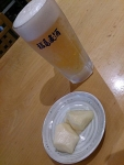 ビール&筍煮つけ@牛乳屋食堂
