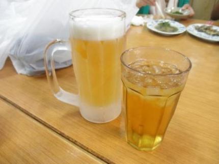 ビールとさんぴん茶