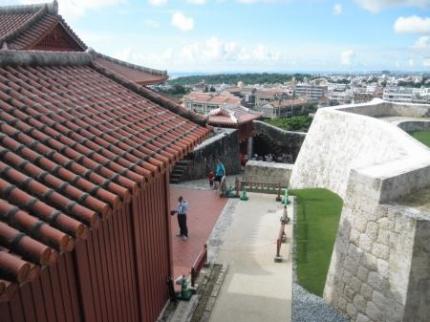 首里城の中からの景色