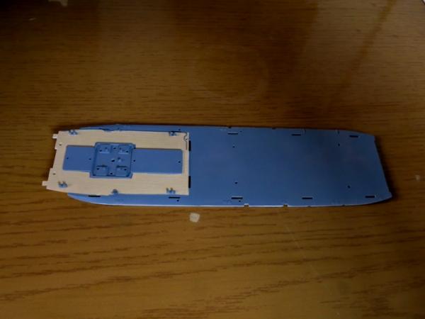 中央甲板塗装