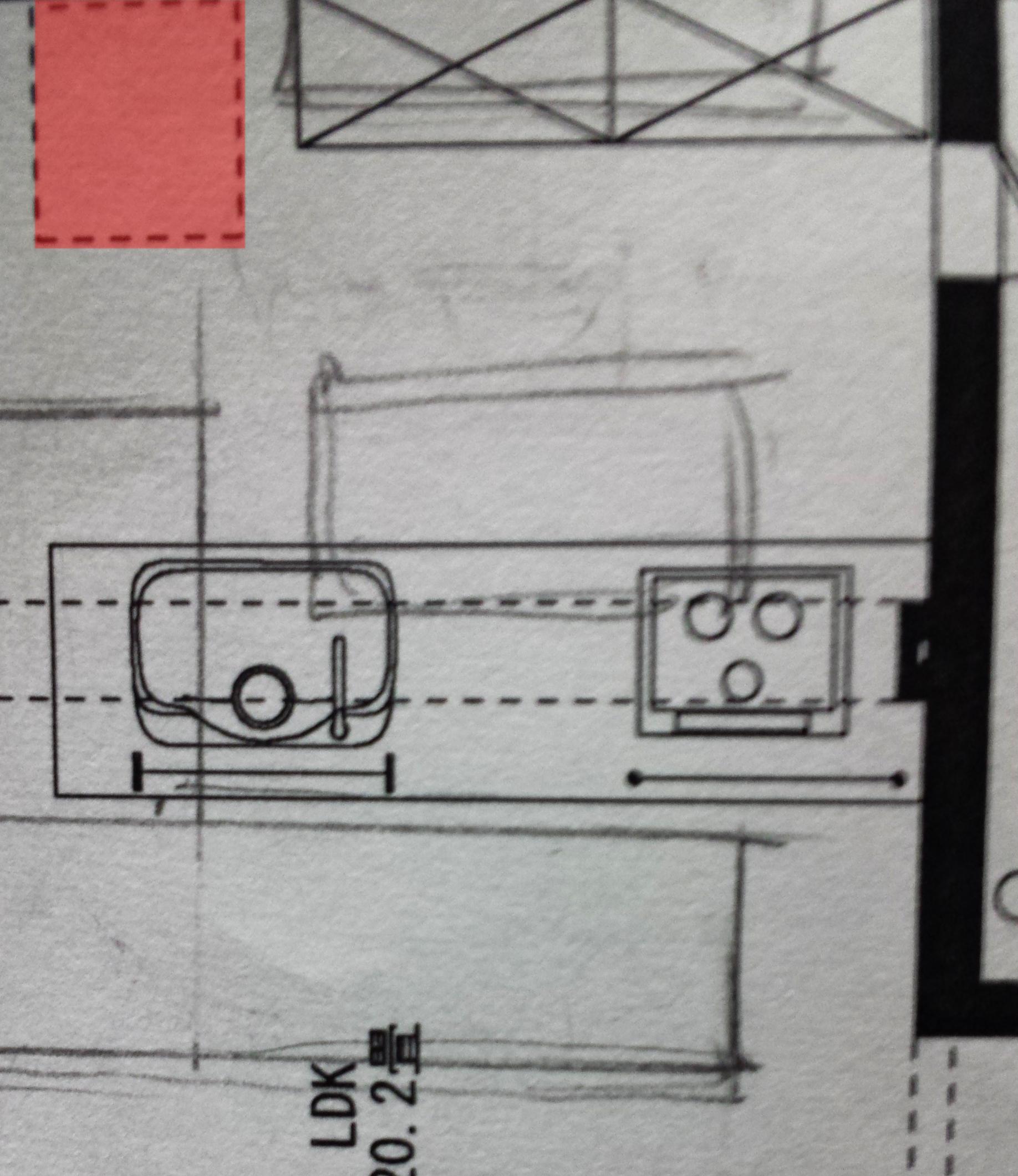 奥行きが厚い冷蔵庫を置くと入り口が狭くなる