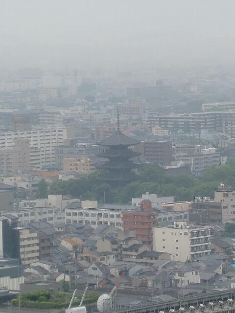 京都タワーから見た東寺五重塔