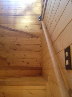 2月23日 階段手すり