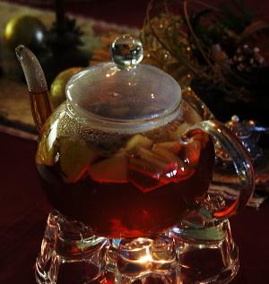 紅茶教室 クリスマスバージョンのアップルティー