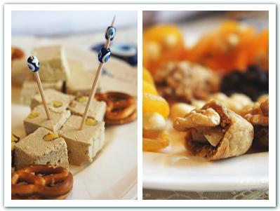 トルコのお菓子とドライフルーツ