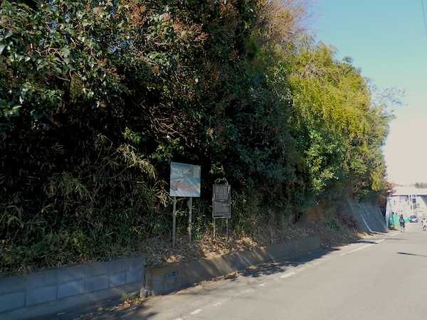 「坂西横穴墓群」(東京都指定史跡)