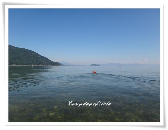 琵琶湖の水面201208