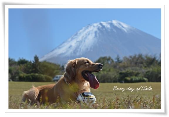 富士山を背景に201210