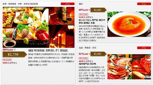 ポンパレ 東京の居酒屋クーポン