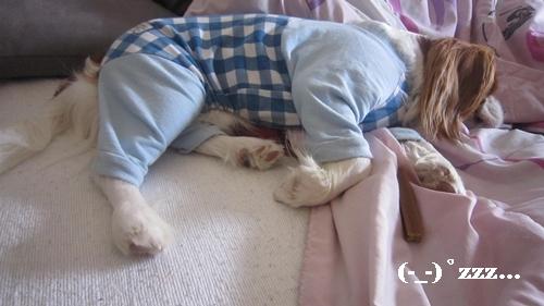 態勢変えて寝る