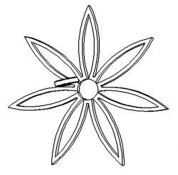 フロントプリント 花柄 白黒
